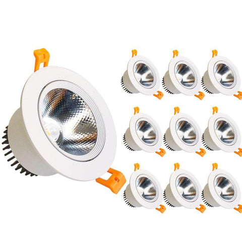 COB CRI80 9W Dimmable LED Directional Recessed Ceiling Downlights