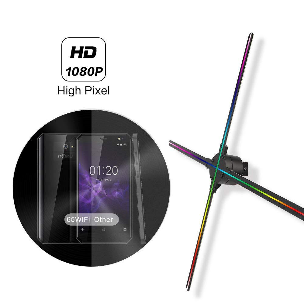 65cm 4 Blades 1024 Resolution WiFi App Cloud Control 3D holographic fan display