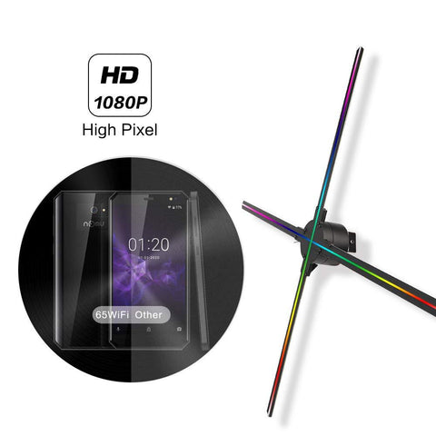 Image of 65cm 4 Blades 1024 Resolution WiFi App Cloud Control 3D holographic fan display