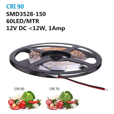 Image of High CRI > 90 DC 12V SMD3528-150 Flexible LED Strips 30 LEDs Per Meter 8mm Width 150lm Per Meter