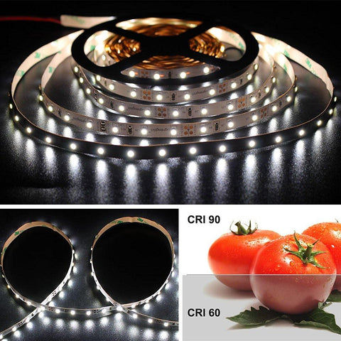 Image of 12V 8mm Width High CRI > 90 DC SMD3528-300 Flexible LED Strip Lights