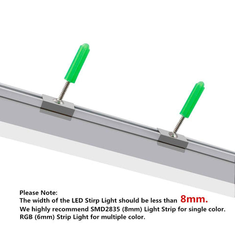 5Pack 3.3ft/1M RGB Color Changing Ultra Thin Silver Track Aluminum Channel System Kit