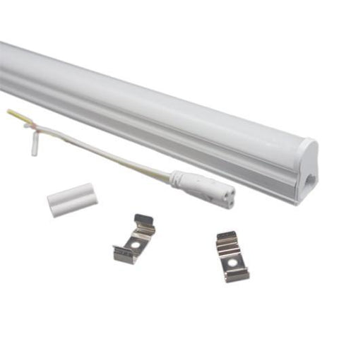 Image of 10Pcs Pack T5 LED Tube Light with Aluminum Fixture and Milky White cover