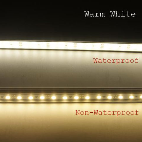 Image of 5 / 10 Pack SMD5630 Rigid LED Strip lighting 72LEDs per Meter with U Aluminum Shell