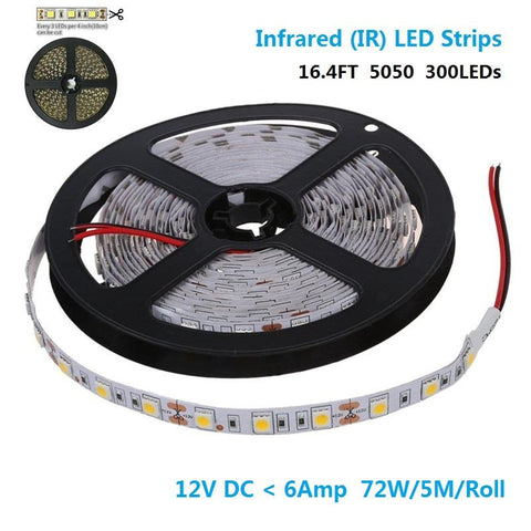 Image of 850nm/940nm SMD5050 60LEDs 14.4W Per Meter IR Infra Red Tri-Chip Flexible LED Strips