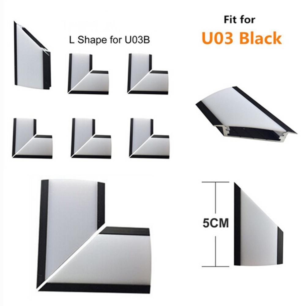 L-shape Adapter of LED Aluminum Channel Solution for 90 Angle Turning Corner