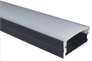 Black U04 10x23mm U-Shape Internal Width 20mm LED Aluminum Channel System