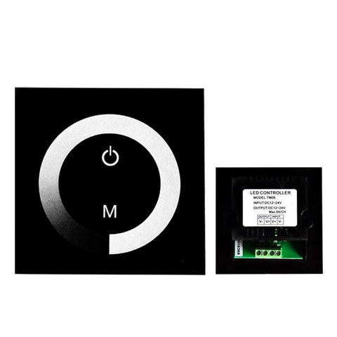12V-24V DC TM06 Wall Panel Touchable Color Ring LED Dimmer Controller