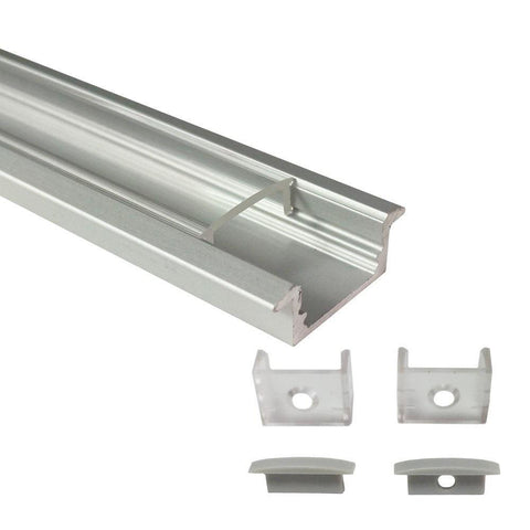 Image of Silver U01 9x23mm U-Shape LED Aluminum Channel System for LED Strip Light Installations
