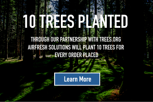 AirFresh Solutions will plant 10 trees for every order placed