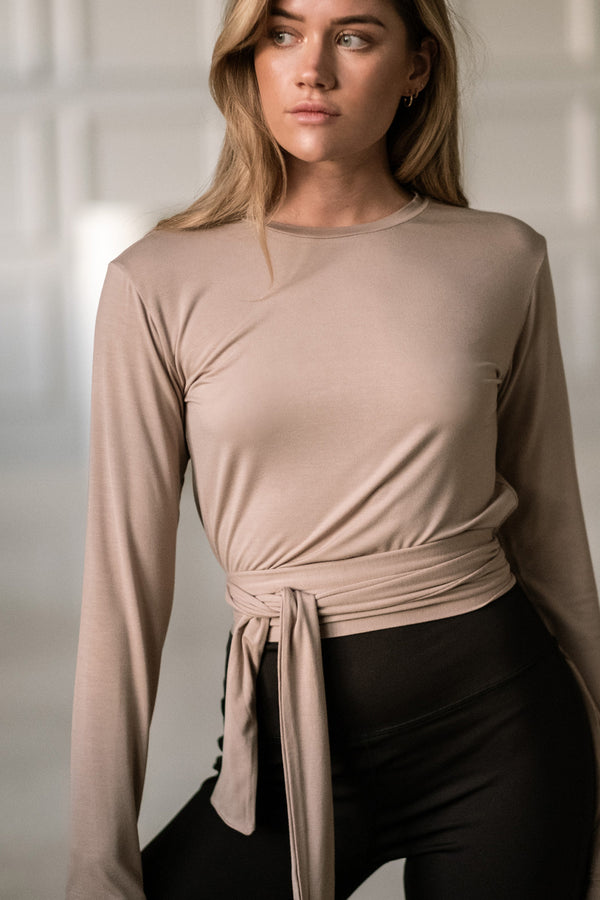 Long Sleeve Top - Taupe