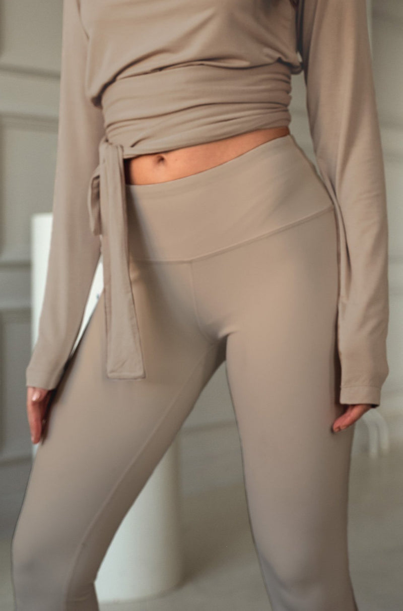 High Waist Tights - Taupe
