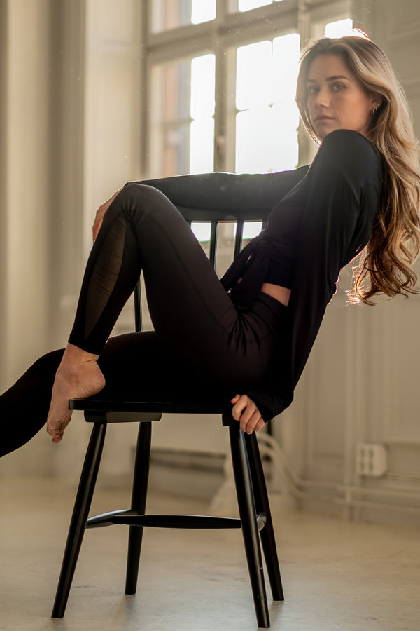 High Waist Tights - Black