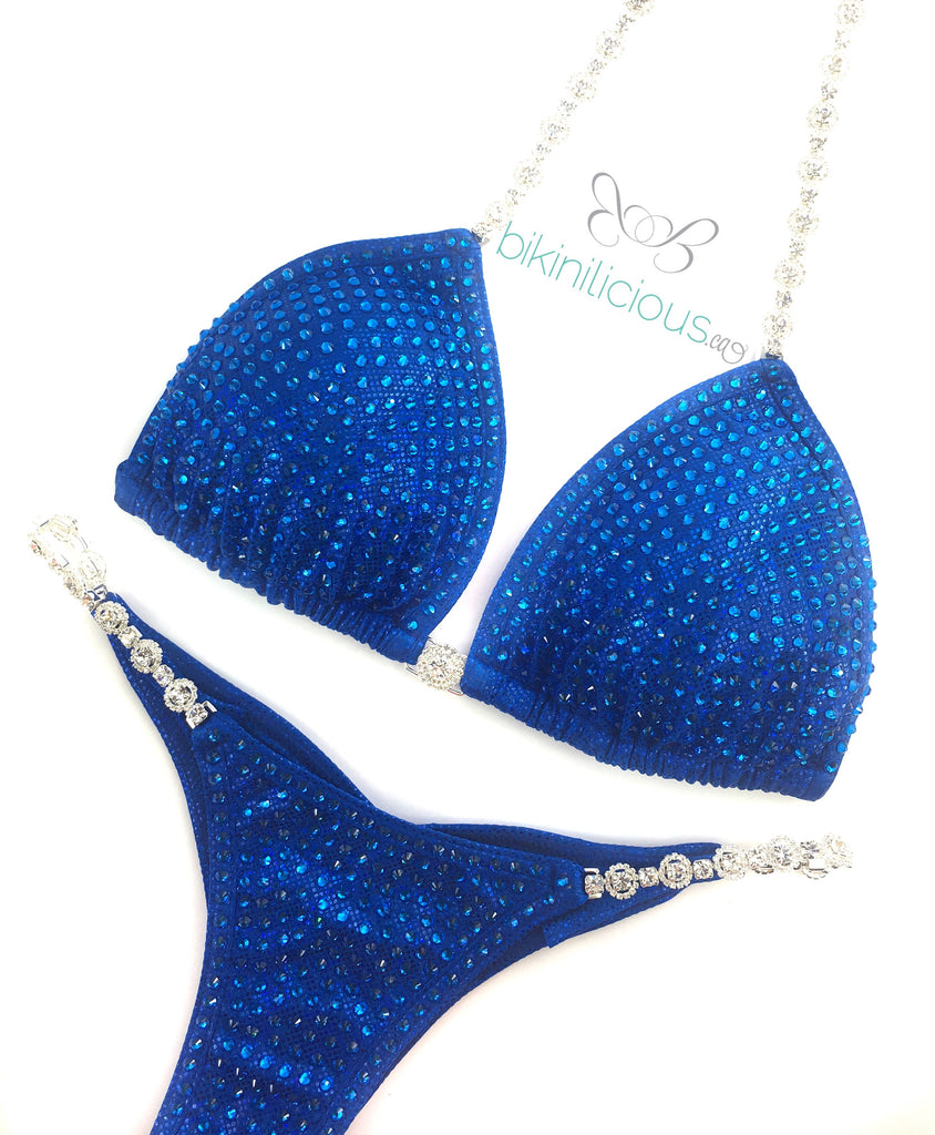 Royal on Royal Blue Competition Bikini
