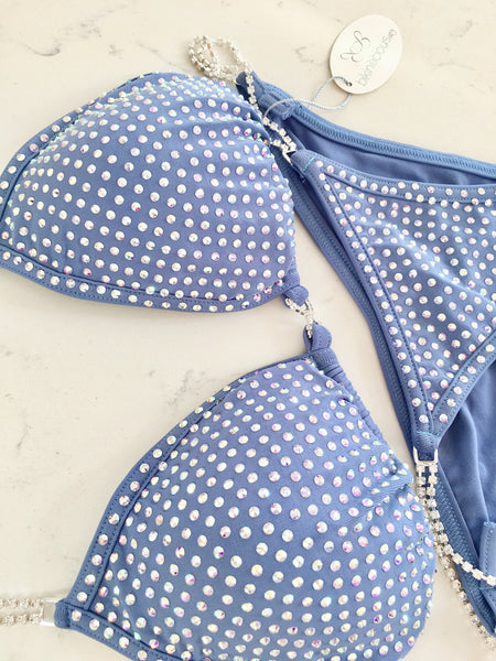 Periwinkle Fitness Competition Bikini