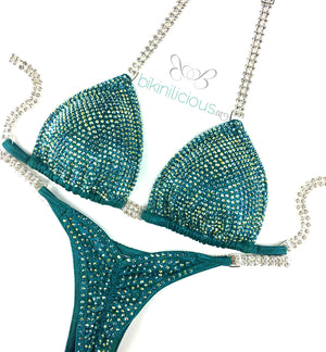 Green Shimmer Competition Bikini Rental