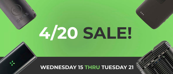 420 Sale 2020: Biggest Vaporizer Sale Of The Year