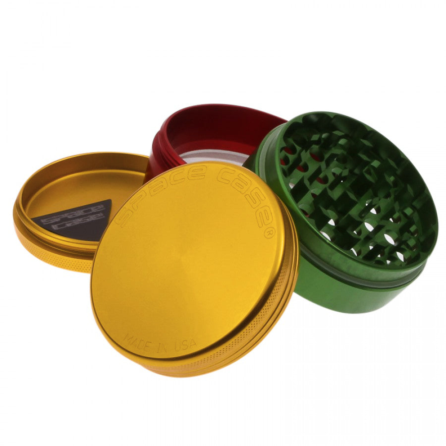 Space Case Grinder Rasta Color 4 Piece - Planet of the Vapes