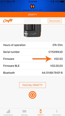 Crafty Vaporizer Firmware App - Planet of the Vapes