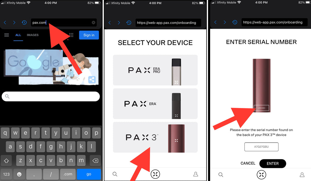 PAX 3 App Solution Pair  your PAX 3