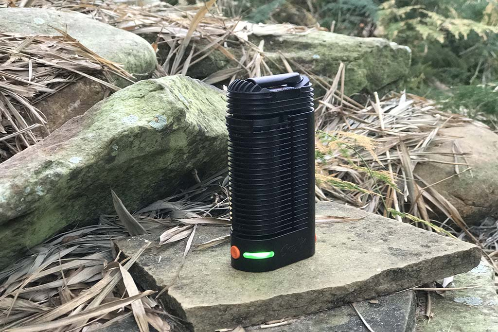 Storz and Bickel Crafty vaporizer outside
