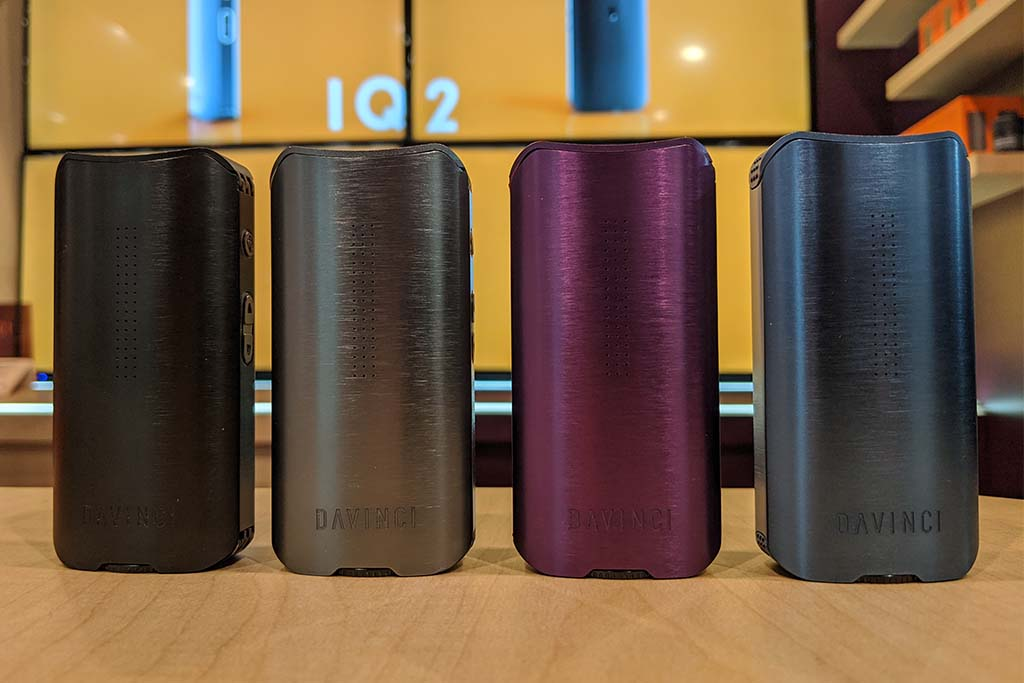 Group shot of IQ2 in four colors
