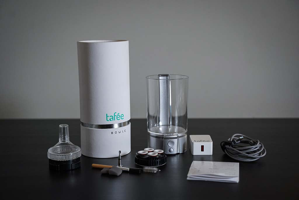 Tafee Bowle Vaporizer Quickstart Guide What's in the Box