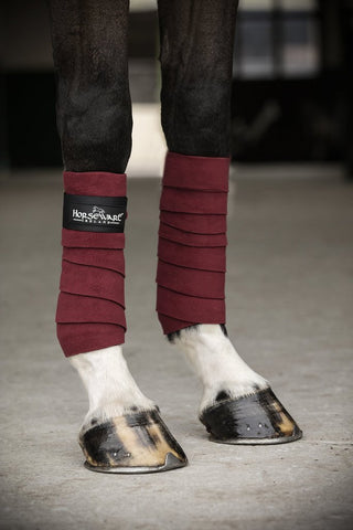 Horseware Fleece Bandages Pomegranate