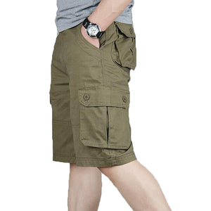 b6aa62ad44 Cargo Shorts Men Summer Fashion Army Military Tactical Homme Shorts Casual  Multi-Pocket Male Baggy