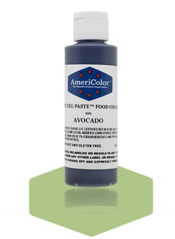 Americolor Soft Gel Paste - Avocado 4.5 oz