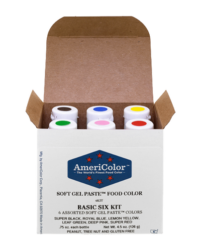 .75 oz Soft Gel Paste 6 Color Basic Six Kit