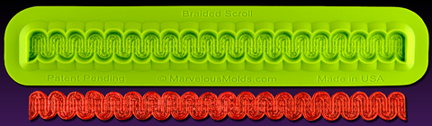 Braided Scroll Mold -  CLEAR SILICONE