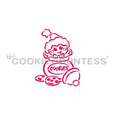 Cookie Jar Gingerbread PYO  - Cookie Countess (HOLIDAY STENCIL)