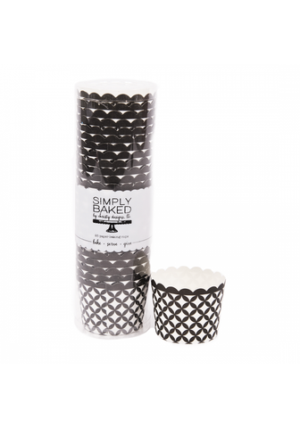 Small Paper Baking Cup - Black Diamond