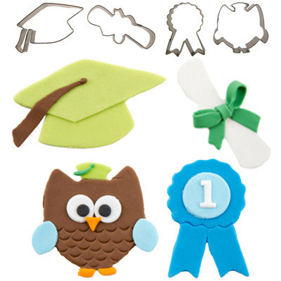 CUTIE CUPCAKE GRADUATION SET/4 - Cutters