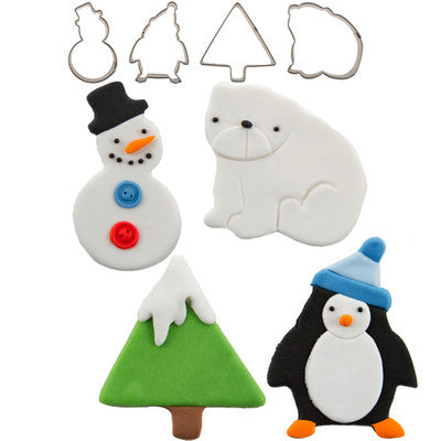 CUTIE CUPCAKE WINTER SET/4 - Cutters