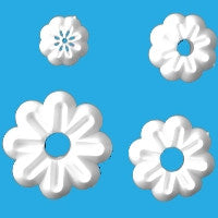 Set of 4 Daisy Cutters - Small