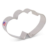 "Flour Box Bakery's Double Heart Cookie Cutter 3"" x 4 5/8"""