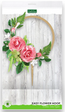 Easy Flower Hoop Wooden Cake Topper