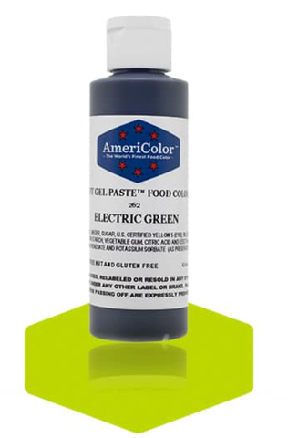 Americolor Soft Gel Paste - Electric Green 4.5 oz