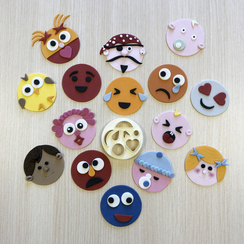 Mix N Match Funny Faces & More Cutter