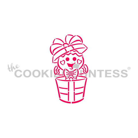 Drawn with Character Gingerbread in Gift PYO   - Cookie Countess (HOLIDAY STENCIL)