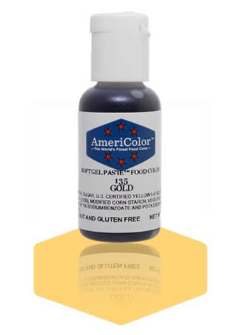 Americolor Soft Gel Paste - Gold .75 oz