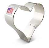 "Heart Cookie Cutter 2 3/4"" x 2 7/8"""