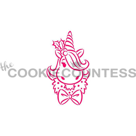 Holiday Unicorn Stencil PYO - Cookie Countess (HOLIDAY STENCIL)