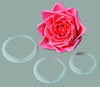 Large Rose Petal Cutter Set of 3