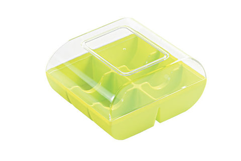 Macaron Hard Shell Case - holds 6 package of 12  LIME GREEN