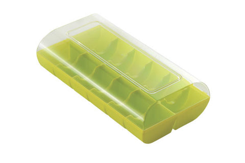 Macaron Hard Shell Case - holds 12 package of 12 LIME GREEN