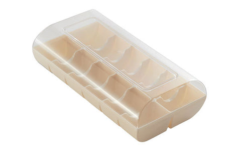 Macaron Hard Shell Case - holds 12 package of 2 WHITE