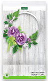 Easy Flower Hoop - Left - Mirror Silver Cake Topper